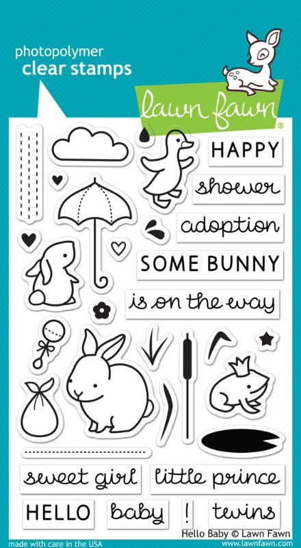 LF0673 ~ HELLO BABY ~  CLEAR STAMPS BY LAWN FAWN